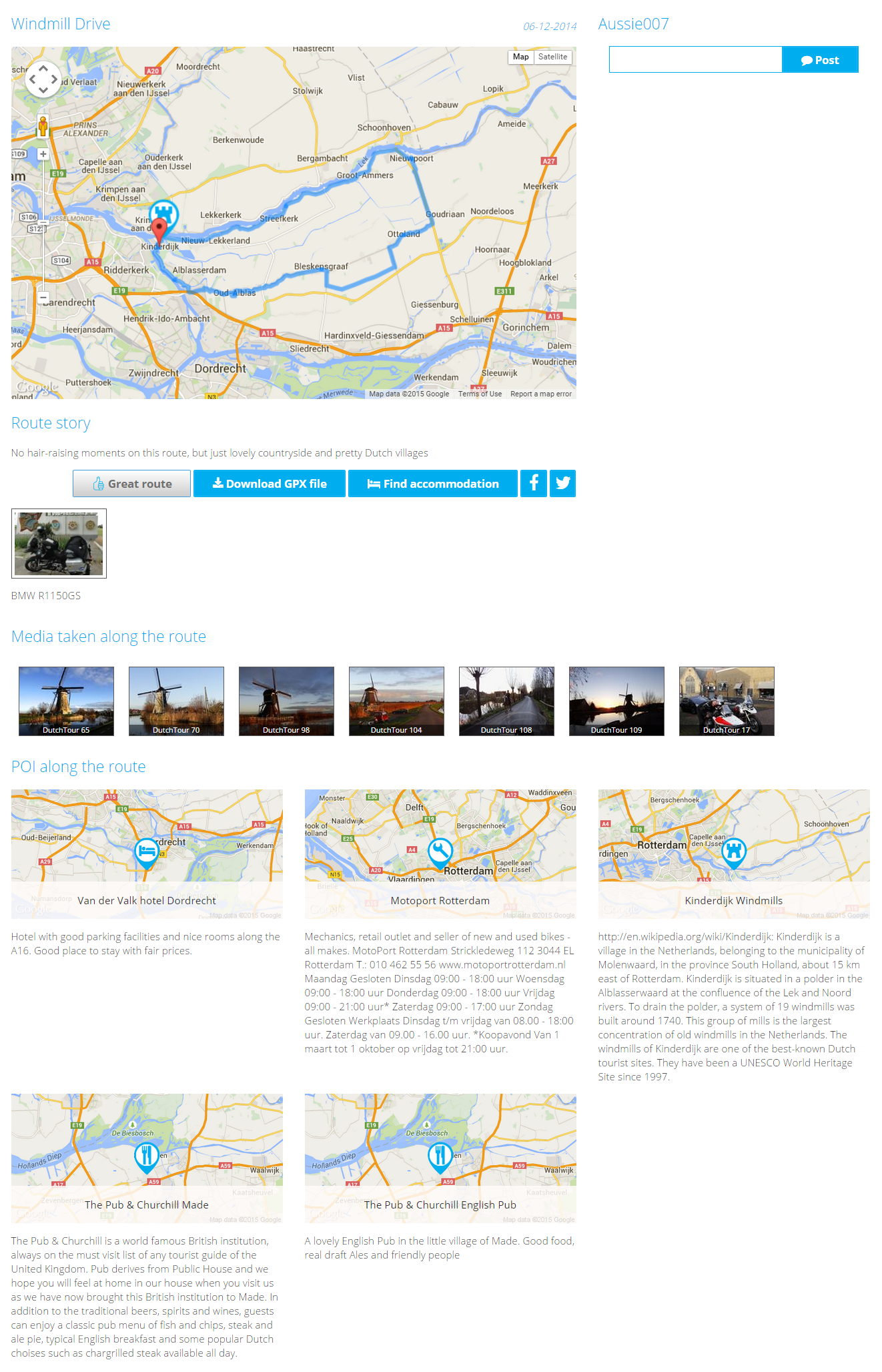 Route Screenshot Google Maps into a GPS file GPX
